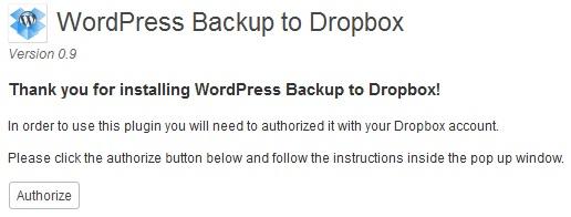 dropbox wordpress